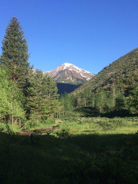 Box Elder Peak from Mill Canyon Trail