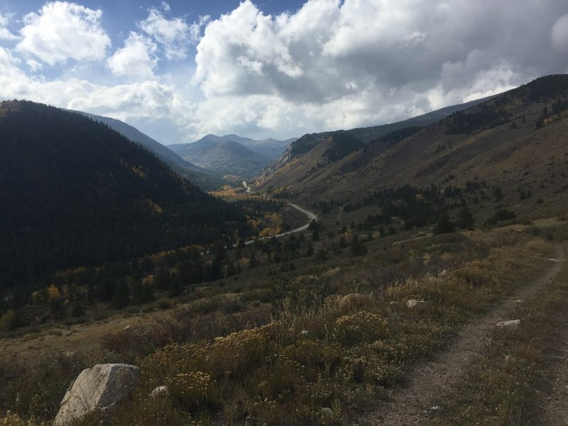 Looking down onto Highway 50 - the final descent.