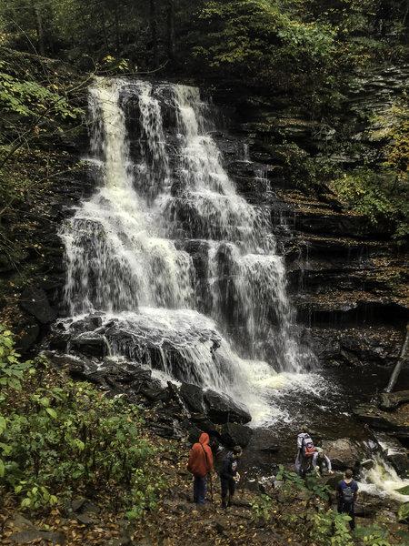 Erie Falls is a 47 ft. cascade.