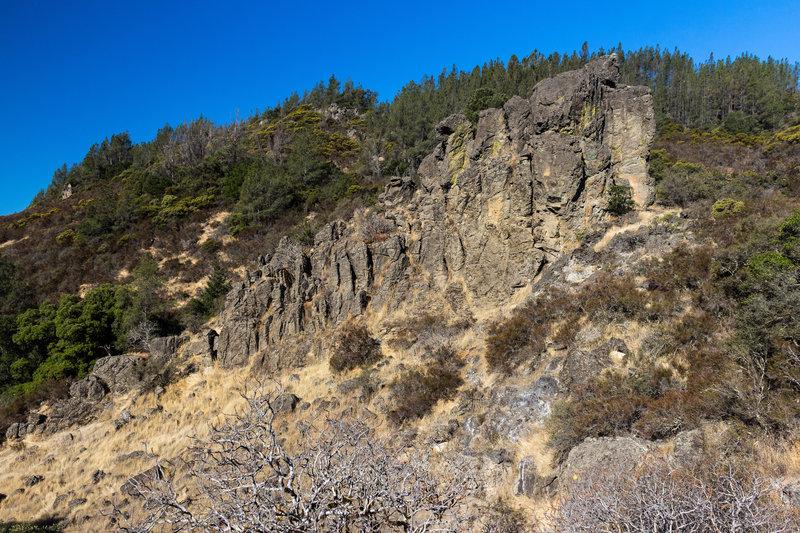 Volcanic rocks in Robert Louis Stevenson State Park.