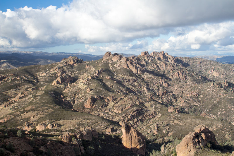 Pinnacles in the south part of Pinnacles National Park