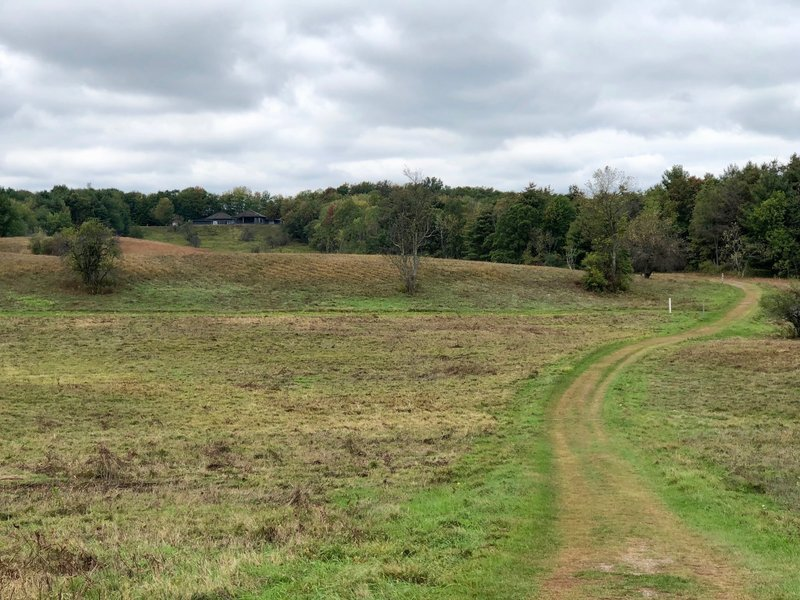 The trail as it makes its way through the fields.