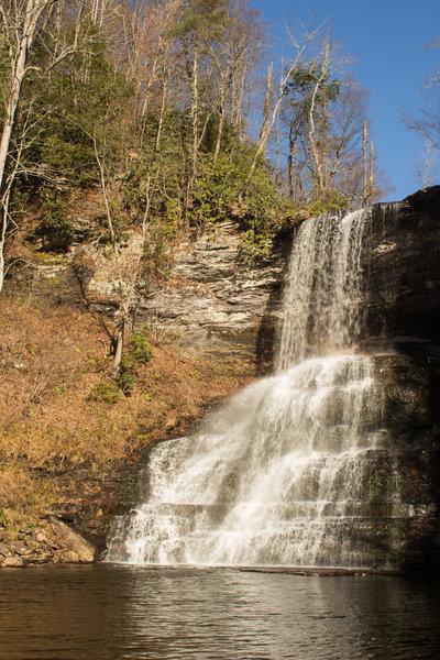 Water.  Falling in cascades.  aka Cascades Falls.