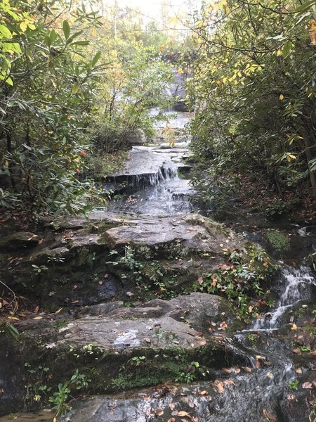 Hard to miss this picturesque waterfall as you move along the trail past Hunt Fish Falls.