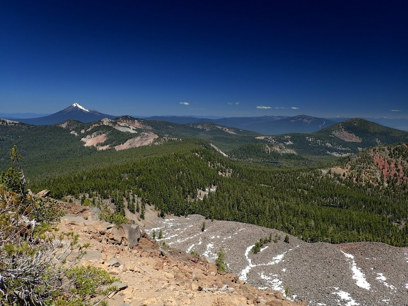 Mount McLoughlin from the summit of Aspen Butte.