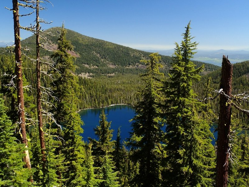Lake Harriette from the rim.