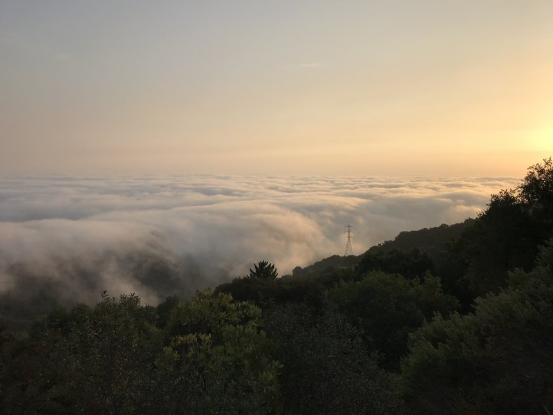 Sunrise with clouds over the valley