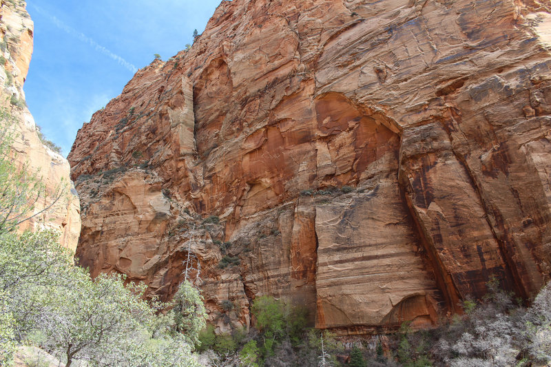 Impressive walls leading into Water Canyon.