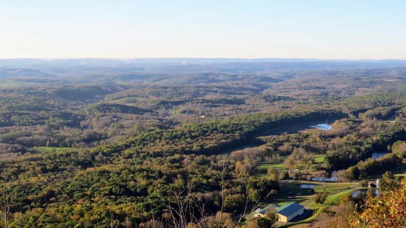 View from the Sunrise Mountain Pavilion, looking south on a section of Branchville, NJ
