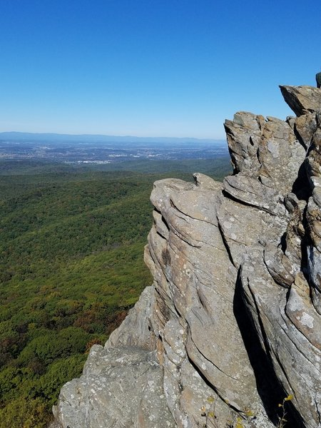 Looking NW from Humpback Rocks.