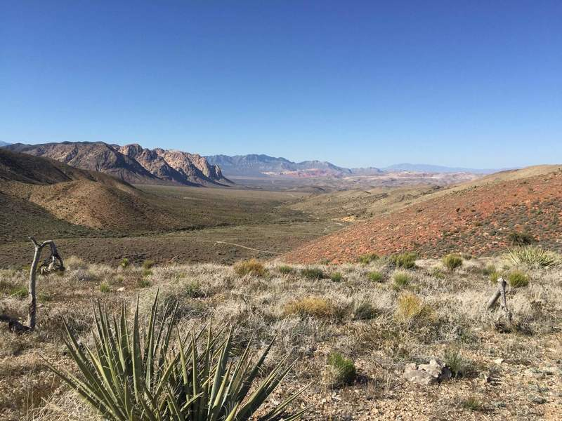 Red Rock seen from Dead Horse trail.