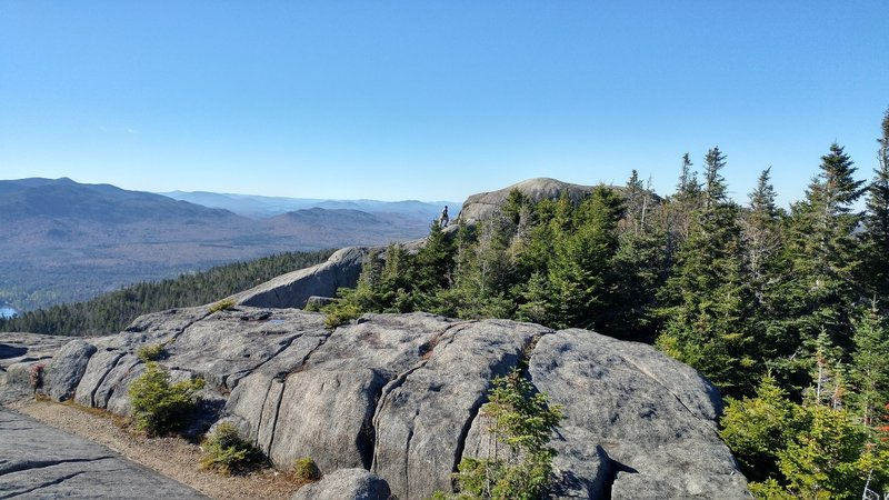 Enjoy a gorgeous view from beyond the summit.