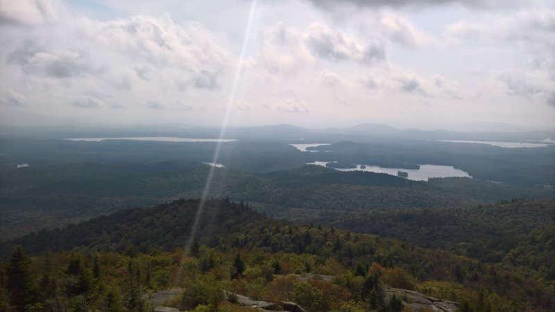 St Regis Summit from the top of the fire tower.