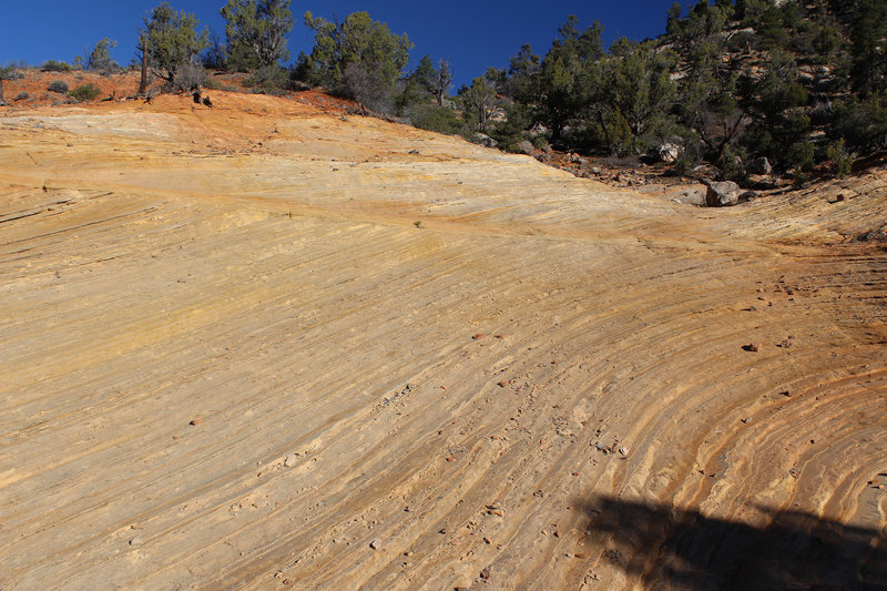 Obvious signs of sedimentation, this really was an ocean a very long time ago.