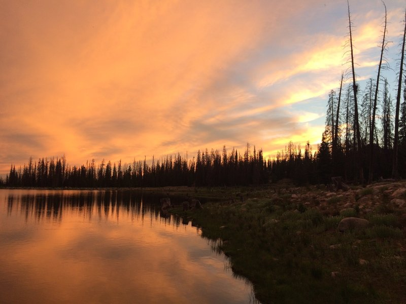 Sunset at Marjorie Lake.