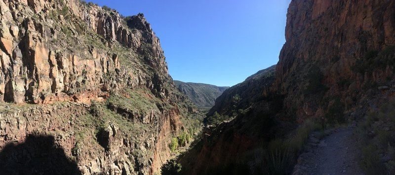 View out of the Falls Canyon looking at the Rio Grande.