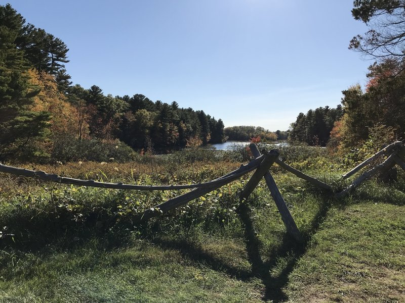 Fall colors and Upper Leach Pond from the Tisdale Site.