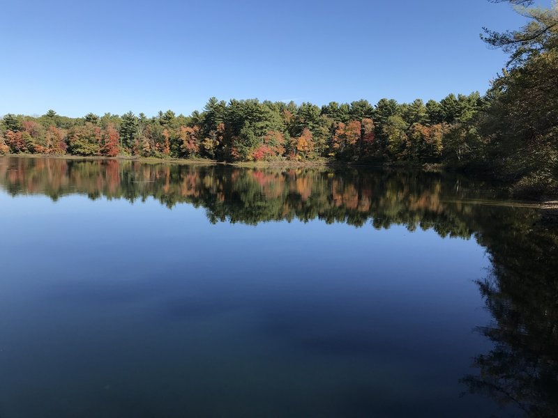Fall colors reflected in Pud's Pond