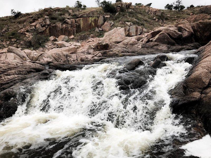 West Cache Creek falls.