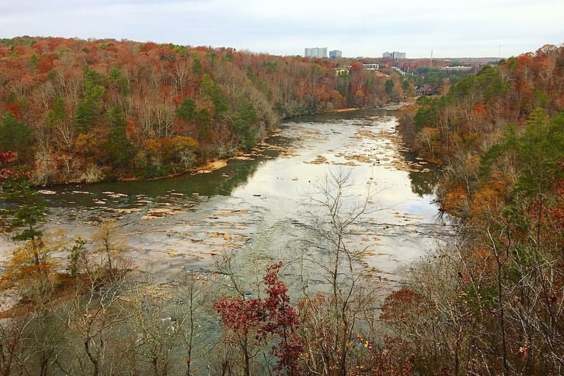 Overlook of the Chattahoochee River.