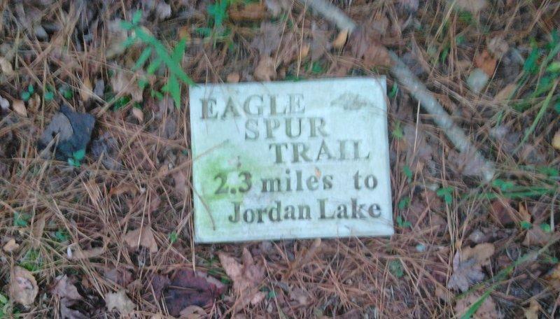Trail Stone marker.