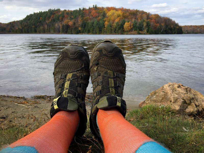 Meech Lake, right beside Wolf Trail.  A perfect place to stretch after your outing.