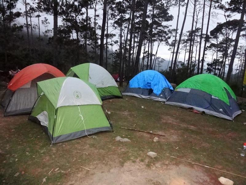 Sharing camp, the place where we usually camp.