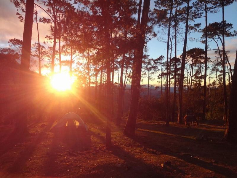 The sunrise seen from the campsite.