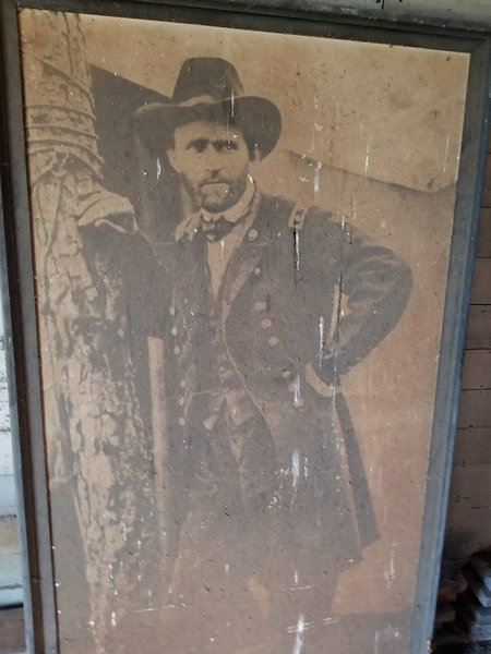 Large Grant picture in abandoned building.