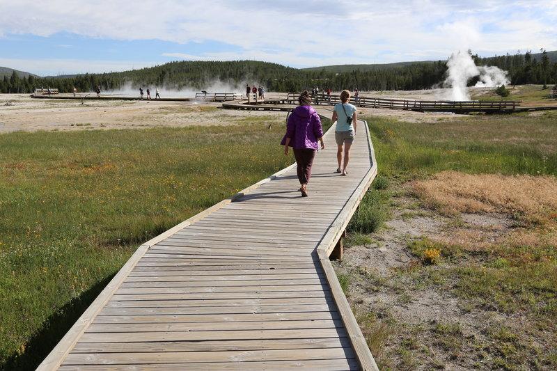 Boardwalk at Black Sand Basin, Yellowstone NP