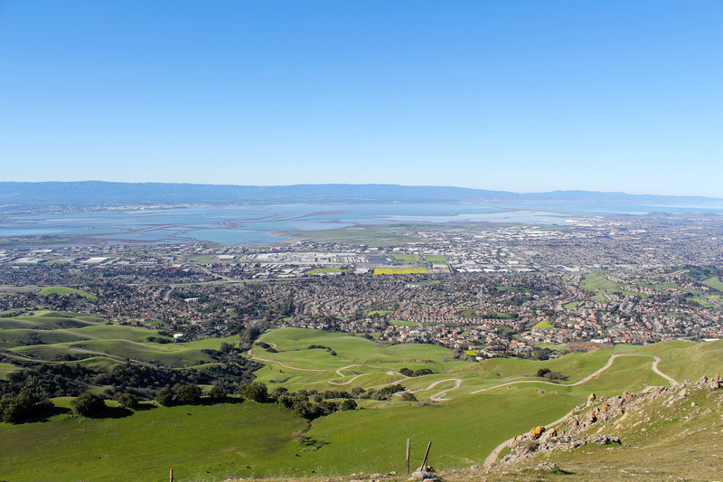 Milpitas and Fremont from Mission Peak