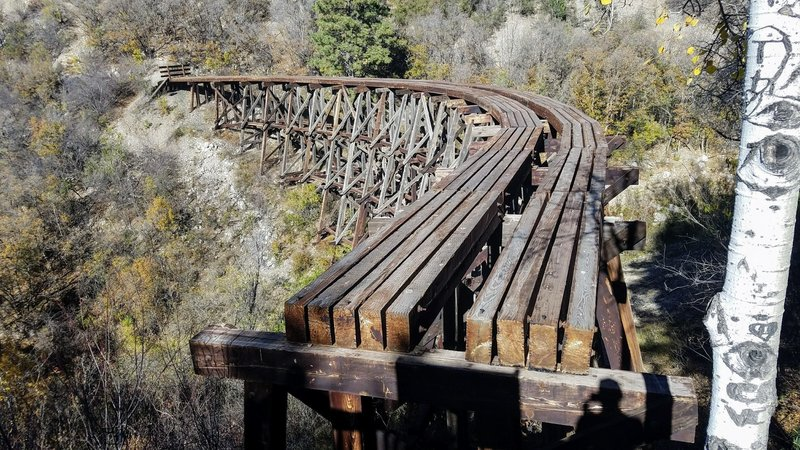 Mexican Canyon Railroad Trestle after recent repairs