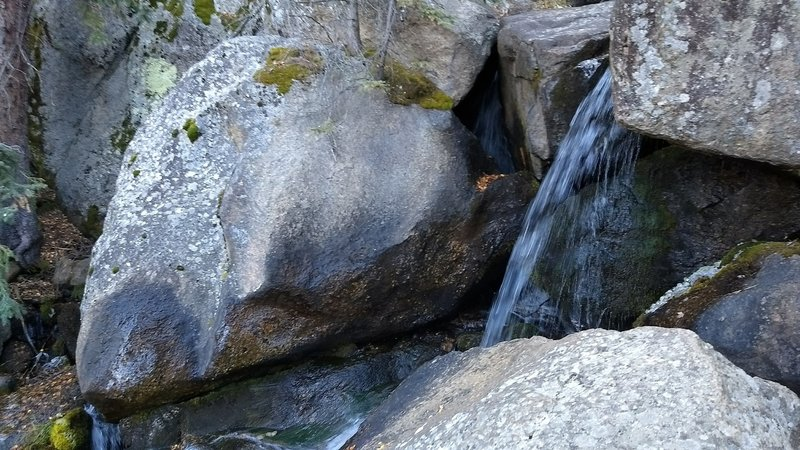 One of many small waterfalls.