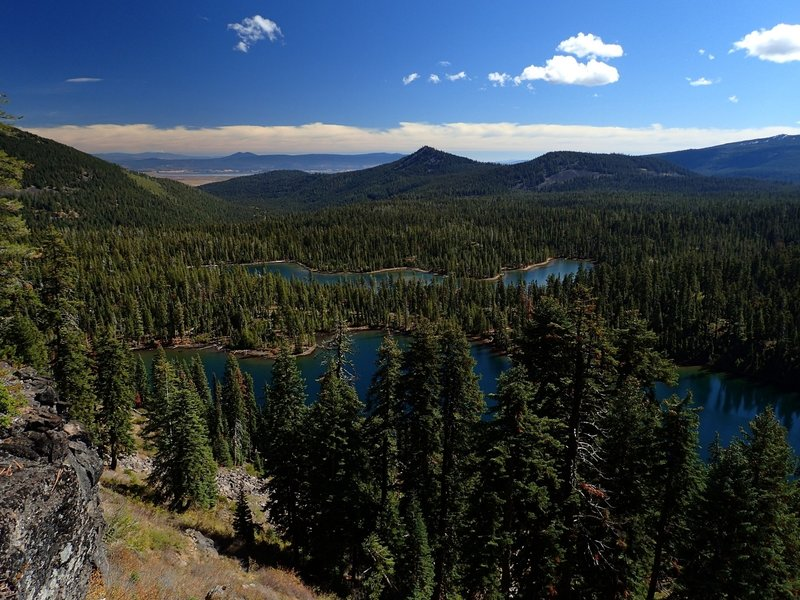 Margurette and Trapper Lakes from the Divide Trail