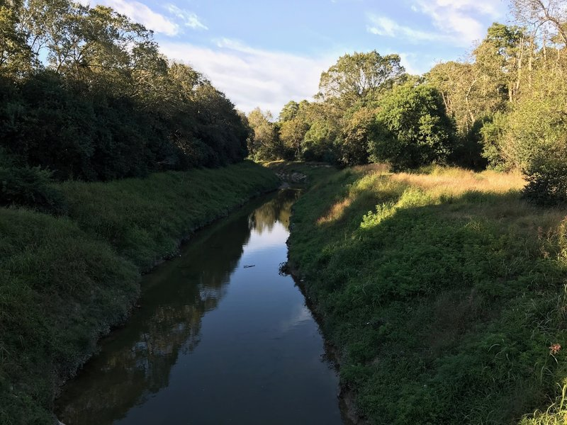 Hall's Bayou passes through the west side of the park