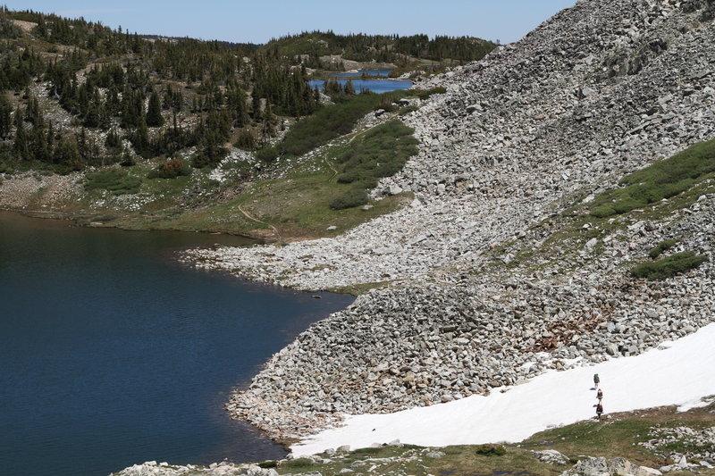View from above North Gap Lake looking toward Shelf Lakes
