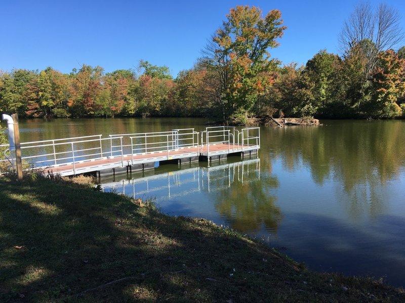 Fishing dock on Manny Pond