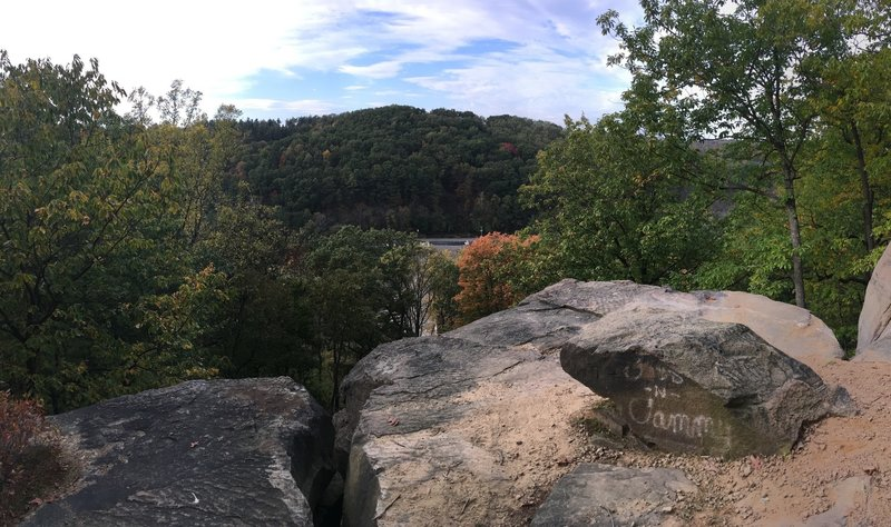 Buzzard's Roost - Overlooking Tuscarawas River and Dover Dam