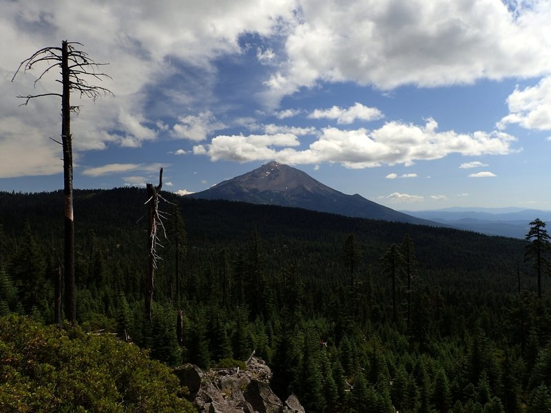 Mount McLoughlin from the Cat Hill Way Trail #992