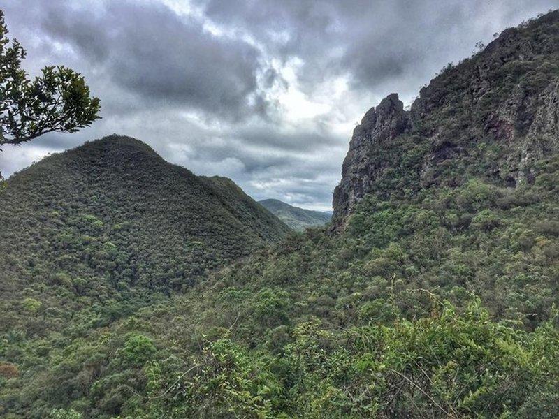 The mountains in Serra do Gandarela.