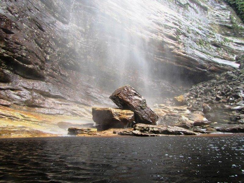 The Peixe Tolo waterfall