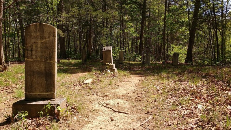 One of three cemeteries nestled in the forest.