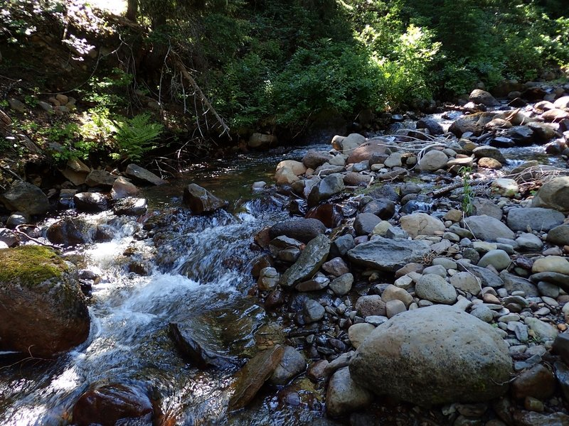 Crossing the South Fork at low water.
