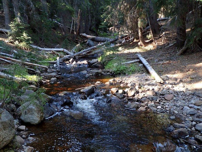 Crossing Sevenmile Marsh Creek.