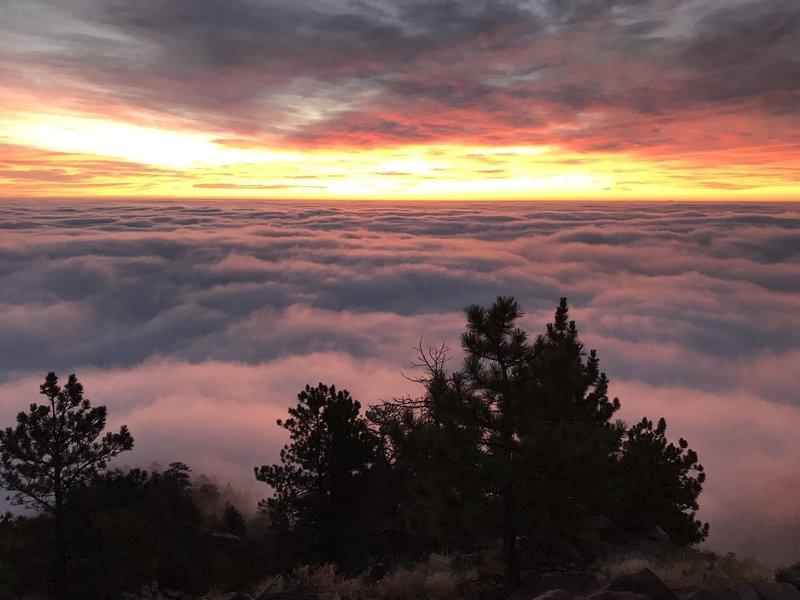 Sunrise from Mt Saintas