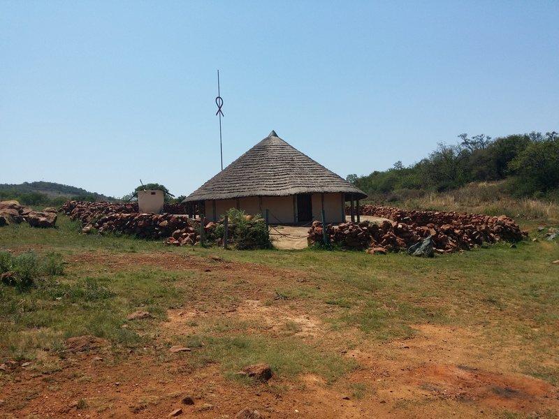 Tswana dwelling reconstruction.