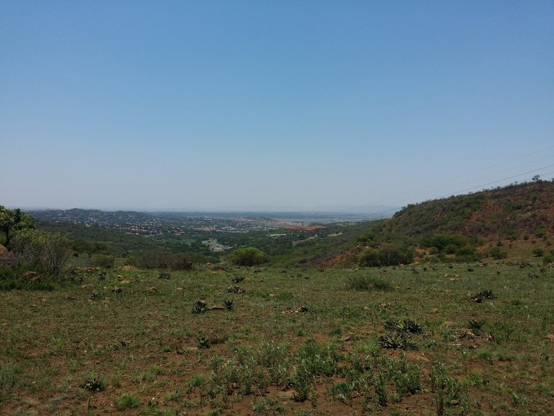 A view from the eastern path of the Klipriviersberg Nature Reserve