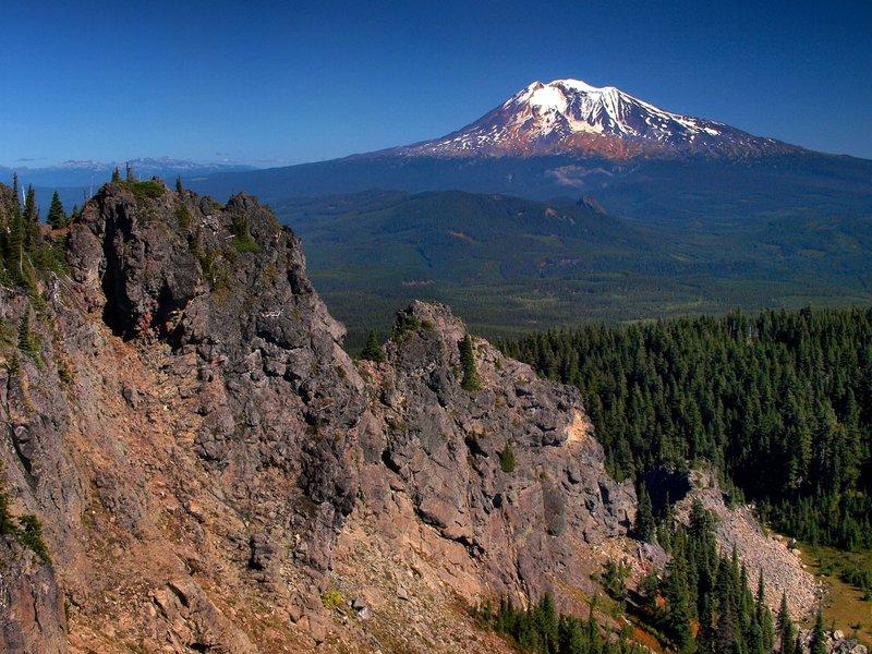 Mount Adams from the top of Lemei Rock