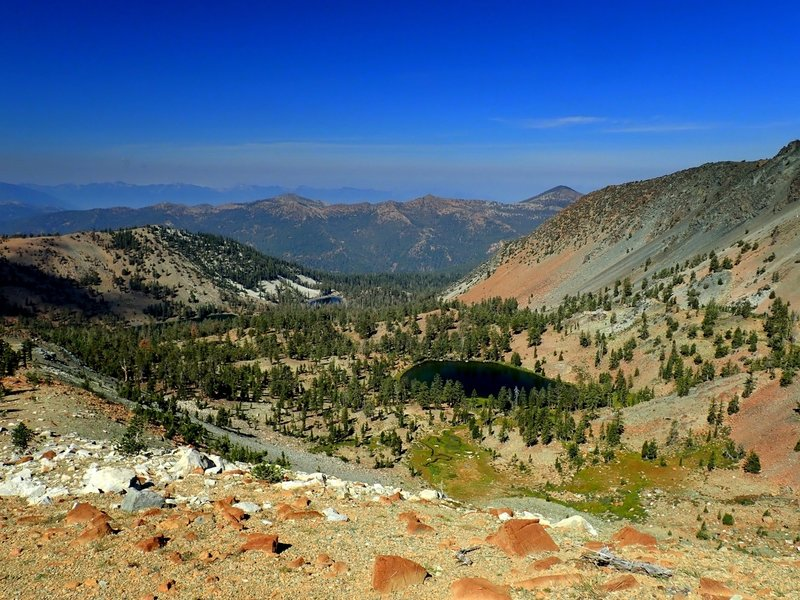 The Deadfall Lakes Basin from the Mount Eddy trail