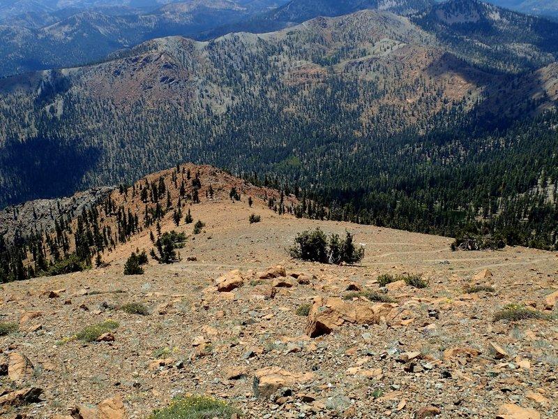 Looking down the Mount Eddy Summit Trail